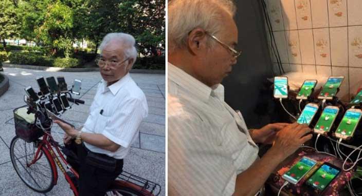 70 yaşındaki adam günde 20 saat Pokemon Go oynuyor