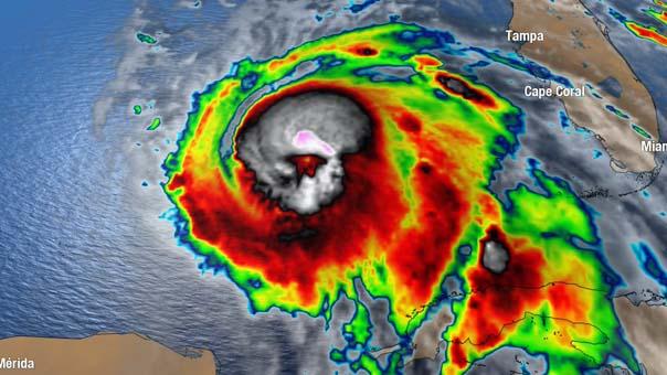 Michael Kasırgası uzaydan kurukafa gibi görünüyor